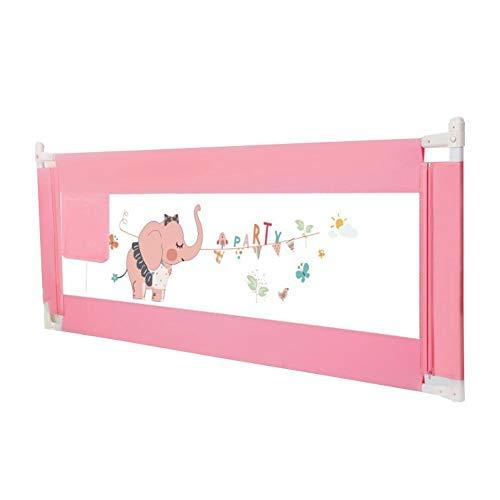 Bettgitter HUO Bettschutzgitter Hebbar Betten Kids Universell Für Alle Matratzen rutschfest Für Alle Matratzen (Color : Pink, Size : 220cm)