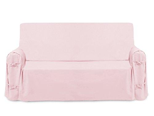 Soleil d'ocre Fodera per Divano in Cotone Panama Rosa, pink