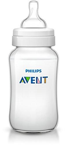 Philips Avent Classic+ Biberon con Sistema Anti-Colica, Clinicamente Testato per Ridurre Coliche e Disturbi, 330 ml