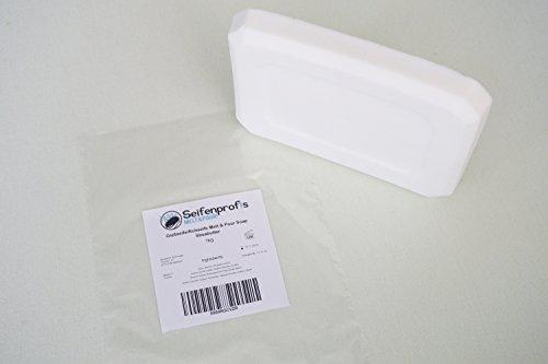 Weiße Glycerin-seife (Sheabutter Rohseife Seifenbasis - Seifen gießen (SLS-Frei) (1kg Sheabutter 1kg Transparent))