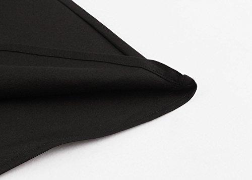 ipretty Elegant robe d'été Jupe Genoux longue sans manches Femme Robe Festive avec broderie Party robe rétro Rockabilly Vintage Robe Vêtements de soirée cocktail Vêtements Schwarz