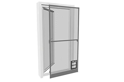 Insektenschutz Tür PRO mit Katzenklappe 100x210cm