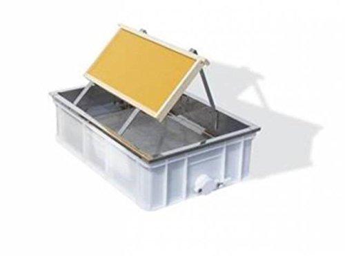 Lega Entdeckelungsgeschirr aus Kunstoffwanne 60x40x18cm, Edelstahleinsatz, Tropfblech und Rähmchenhalter