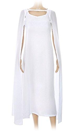 Game of Thrones weißes Kleid und Umhang von Daenerys Targaryen, Größe: (Kostüm Daenerys Targaryen Halloween)