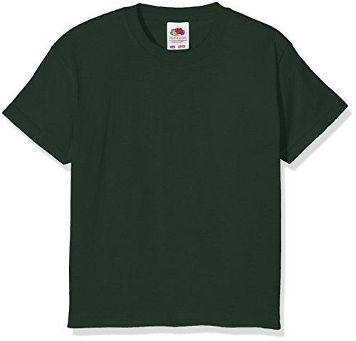 Fruit of the Loom Jungen T-Shirt Value T Grün - Bottle Green