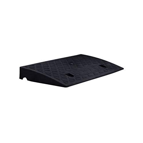 CSQ-Rampen Schwarzes Trittpolster, rutschfeste Schwellenrampen aus Kunststoff, geeignet for tragbare 5CM / 7CM / 11CM-Aufstiegsrampen im Freien Bordsteinkanten ( Color : Black , Size : 50*22*5CM )