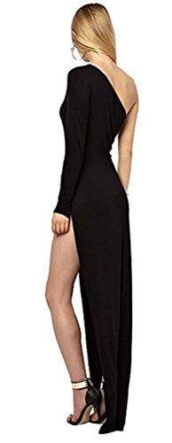 SunIfSnow - Robe spécial grossesse - Moulante - Uni - Sans Manche - Femme Noir