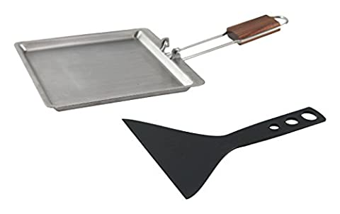 Charcoal Companion Stainless Raclette Pan with Scraper