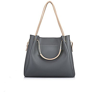 La donna pu Casual / Esterni / Shopping Bag imposta,Nero Gray