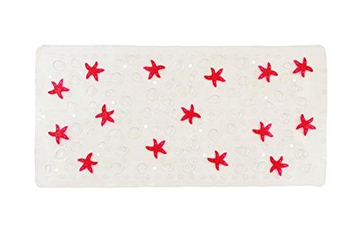 Shark 070/202562 Antirutsch-Matte aus Gummi für die Badewanne, 35x75cm, Fuchsia/transparent