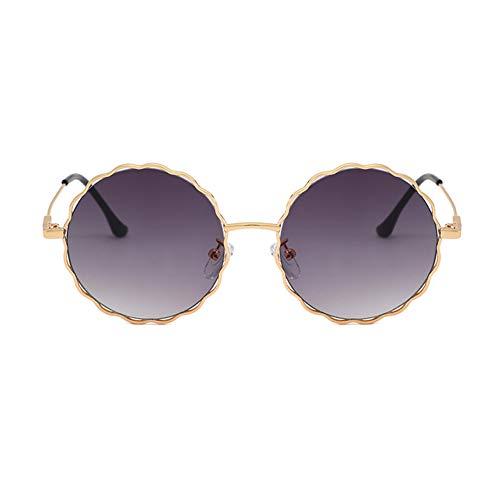 KDSANSO Frauen Sonnenbrillen Runde Brille Schutz UV400 Mode Schöne Blume Schnittlinse Reise Sonnenbrille