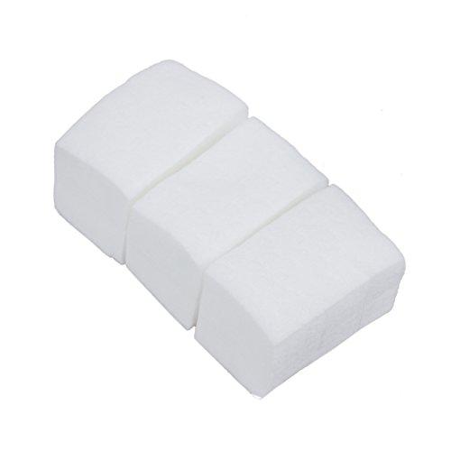 SODIAL (R)900 X Carre Cellulose En Coton 6x4cm Pr Nail Art Ongle