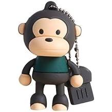 Monkey 16GB USB Flash Drive - Memory Stick Data Storage - Pendrive - Multicolor