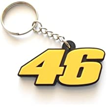 Llavero 46 The Doctor, Valentino Rossi - color amarillo, llavero de goma, perfecto