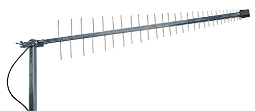 Antenne 4G LTE + WiFi LOG Yagi SINGLE 11dBi 700/800/900/1800/2100/2400/2600 MHz LowcostMobile 10M SMA Kabel schwarz WL240 Für Huawei B525, B528, B593, E5180, E5186, B310, B315, Asus, TP Link, DLINK und mehr (Außen-wifi-antenne)