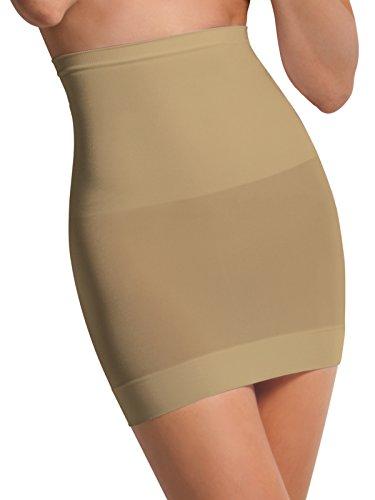 SENSI' Sottogonna Modellante Vita Alta Contenitivo Snellente Senza Cuciture Comfort Filato Traspirante ed Antibatterico Shapewear Eco Sensì Made in Italy S M L XL Nero Naturale Bianco
