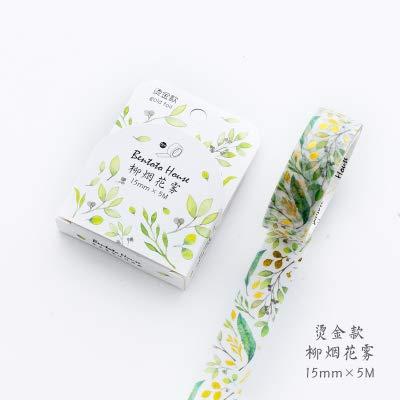 Washi Tape Lámina láser Flores Animal Japonés Masking Washi Cinta decorativa Cinta adhesiva Decora Diy Scrapbooking Etiqueta Etiqueta Papelería