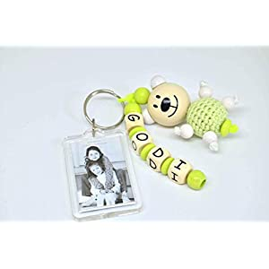 Schlüsselanhänger mit Bild, Schlüsselanhänger mit Name, für Oma, Opa, Tante, Onkel, Gedi, Godi, Goli. mit Bildanhänger
