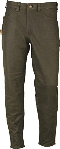 """""""Fuente"""" Chasse Pantalon cuir Homme Femme bottes- pantalon chasseur Homme Femme - militaire- Lederhose Nubuk-Vert Vert"""
