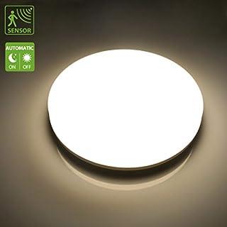 LED Sensorleuchte, LED Deckenleuchte mit Sensor, 24W 2050LM Deckenlampe Küchenlampe Deckenleuchte mit Bewegungsmelder, IP44 Außenbeleuchtung, Balkon, Balkonlicht, Terrasse, Innenbeleuchtung, Neutralweiß