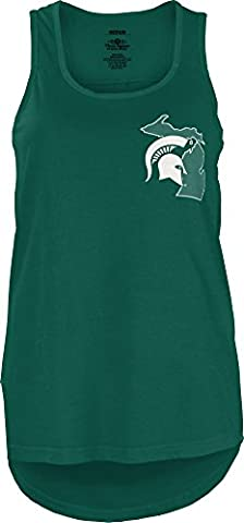 NCAA Michigan State Spartans Junior's Comfort Colors Tank Top, Large, Green