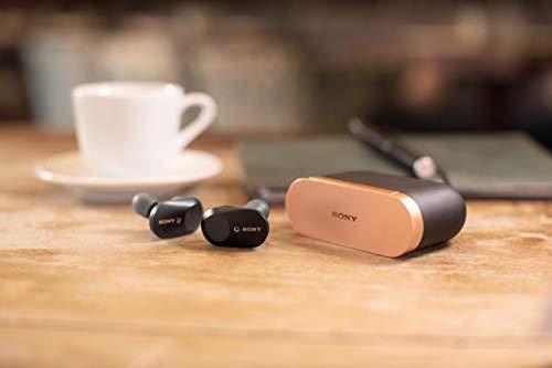 Sony WF-1000XM3 True Wireless Noise Cancelling Kopfhörer (bis zu 32h Akkulaufzeit, stabile Bluetooth Verbindung, Amazon Alexa, komplett kabellose Earbuds incl. Ladecase) schwarz - 19