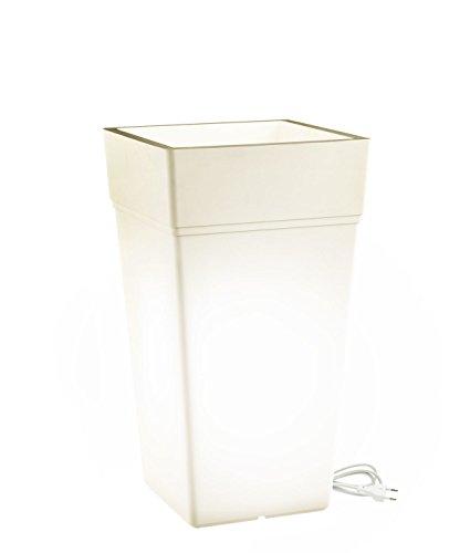Teraplast Pot Stalk lumière 65 cm 65 cm Bianco