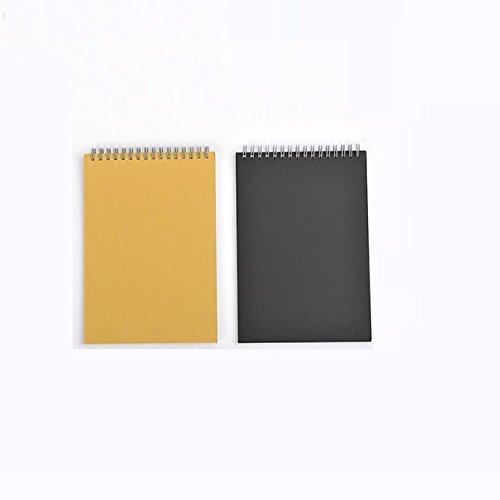 Chris Wang Set von 2Top Spirale Notebook B5Größe mit schwer Board, 8mm Raster Memo Pad, Coil Notizblock Tagebuch gefüttert Thema Note für Studenten -