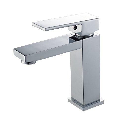aurlum Single Griff Ein Loch Waschbecken Wasserhahn Deck Wasserhähne Waschbecken Mixer Wasserhahn, Chrom - Cartridge-stil-filter