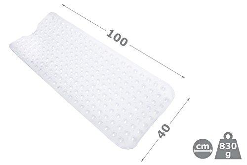 Bamodi Badewanne Rutschmatte Extra Lang 100 X 40 Cm