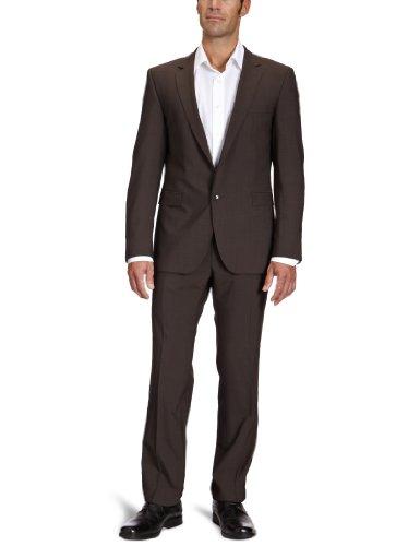 Strellson Premium Herren Anzugsjacke Slim Fit 11000336/L-Rick, Gr. 98, Braun (152)