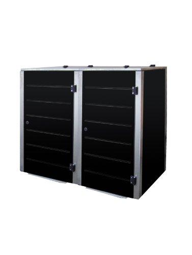 Mülltonnenbox Edelstahl, Modell Eleganza Line, 240 Liter, Zweierbox in Farbe