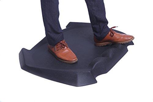 Topo-Matte | Anti-Ermüdungsmatte | Antimüdigkeitsmatte | Anti Fatigue Fußmatte | Komfort Matte ergonomisch geformt für Büro | Arbeitsplatzmatte für Sitz-Steh-Schreibtisch, Schwarz (80 x 62 x 6 cm, Schwarz)