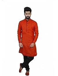 Veera Paridhaan Men's Casual Cotton Plain Full Sleeve Kurta