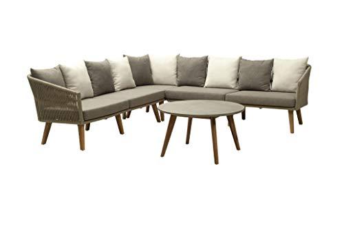 Gruppo maruccia divano angolare con cuscini per hotel e ristoranti e giardini arredamento per esterni