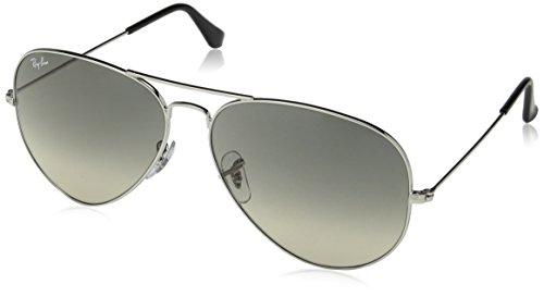 Ray-Ban Unisex Sonnenbrille Rb 3025, (Gestell: Silber, Gläser: Hellgrau Verlauf 003/32), X-Large (Herstellergröße: 62)
