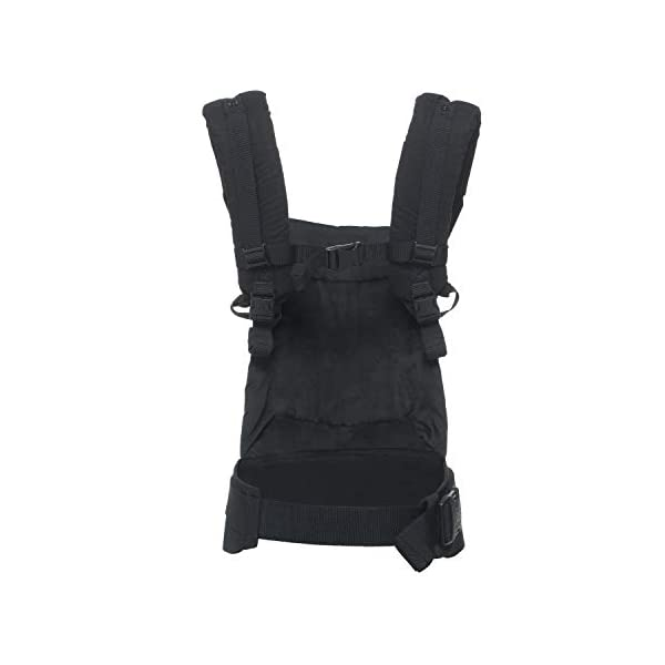 """Ergobaby Baby Carrier for Toddler Pure Black, Original 3-Position Child Carrier 5.5 to 20kg with Lumbar Support, Front Backpack Ergobaby Ergonomic babycarrier - ergonomic for baby with wide deep seat for a spread-squat, natural """"m"""" seated position. Baby carrying system with 3carry positions:  front-inward, hip and back. from baby to toddler: 5.5*-20kg Maximum wearing comfort - lumbar support waist belt (adjustable from 66-140cm / 26-52in) that can be adjusted to the height of the carry position. 9"""
