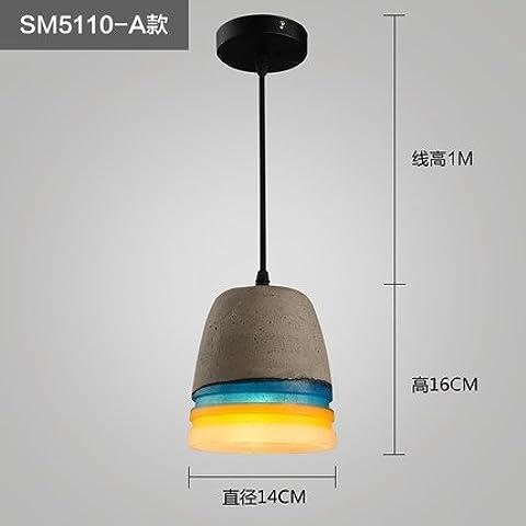 Aire Industrial personalidad creativa Arte Cheliers cemento Restaurante Cafetería Retro Lámparas de corredor de tránsito