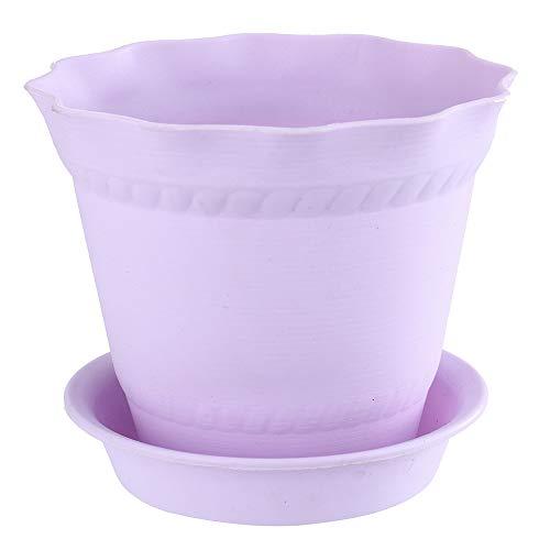 Upxiang Mini Résine Godet pour semis Colorées Pots De Fleurs avec Palette/Plateaux Godet pour semis Balcon Jardin Home Decor Pots de Plantes