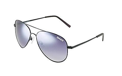 Sinner MORIN Polycarbonate Aviator Sunglasses, Black Metal, SISU/723Pack