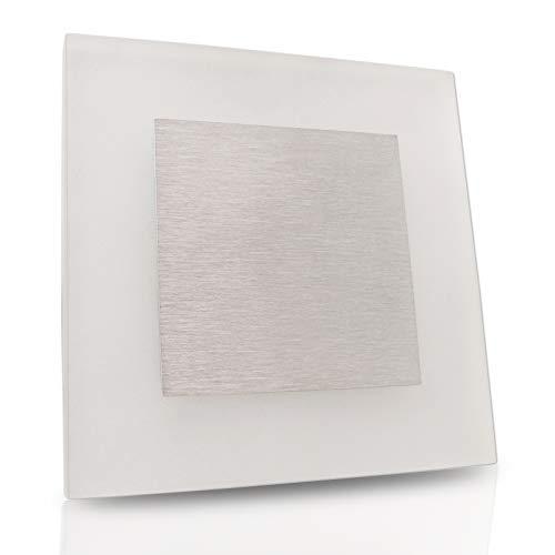 Wandeinbauleuchte ESCALA M1 Acrylglas/Edelstahl 230V LED ca. 1,3 Watt; IP20 Warmweiß (3000k) Wandleuchte Treppenbeleuchtung Wandstrahler Treppenleuchte