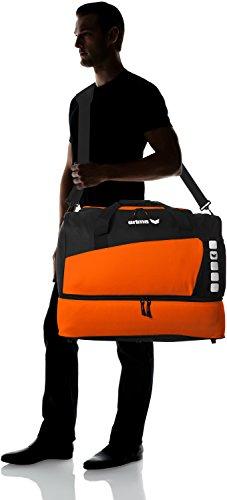 erima Sporttasche mit Bodenfach Orange/Schwarz