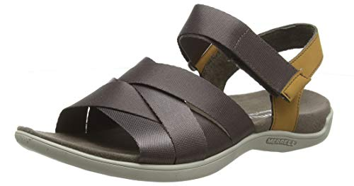 Merrell Damen District Maya Backstrap Slingback Sandalen, Braun (Falcon), 39 EU