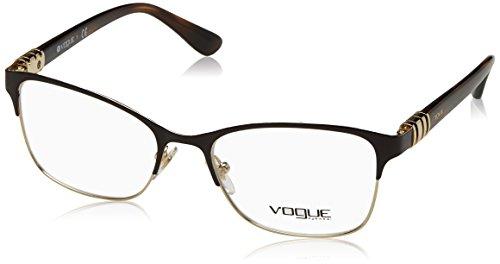 VOGUE Optical Frames Frame BROWN/PALE GOLD WITH DEMO LENS