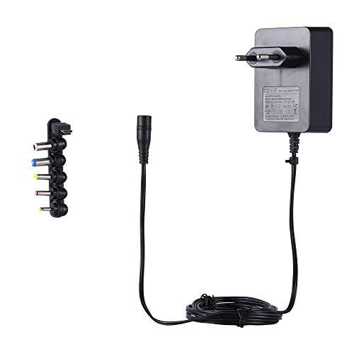 DEYF 5V 3A Universal Netzteil 15W AC DC-Ladegerät für USB-Hub, LED-Pixel-Licht, Kindle Fire Tablet, Notebook, DJ-Controller (6-Tipps) -