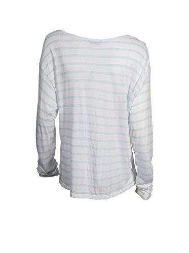 LEI 1984 Damen Shirt Olivia in Weiss-Hellblau Gestreift blanc ciel