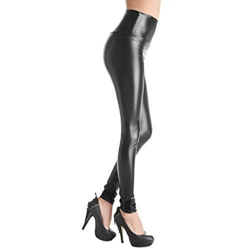 83e2a9907a6b6 Uc Womens Ladies Pvc Leather Pu Leggings Wet Look Stretch Trousers Pants  High Waist Black - £7.99