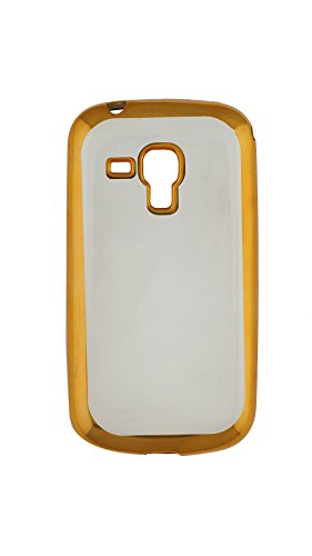 Re Mobile Accessories Stylish Gold Side Bar Transparent Back Cover for Samsung Galaxy Star Pro S7262  available at amazon for Rs.179