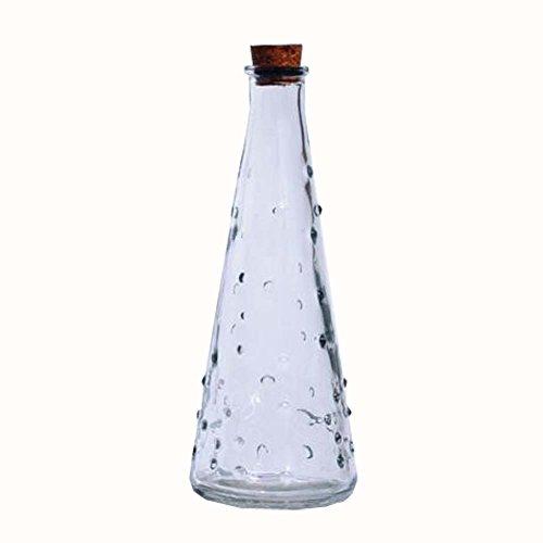 Black Star Medium Glas (DIY Crystal Wishing Flaschen Origami Star Glas Jar Geschenk Flasche 2er Set)