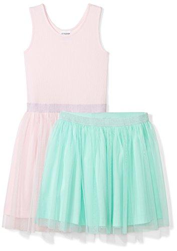 Tutu Tank (Spotted Zebra Big Girls' Tutu Tank Dress and Skirt Set, Pink/Mint Green, Medium (8))